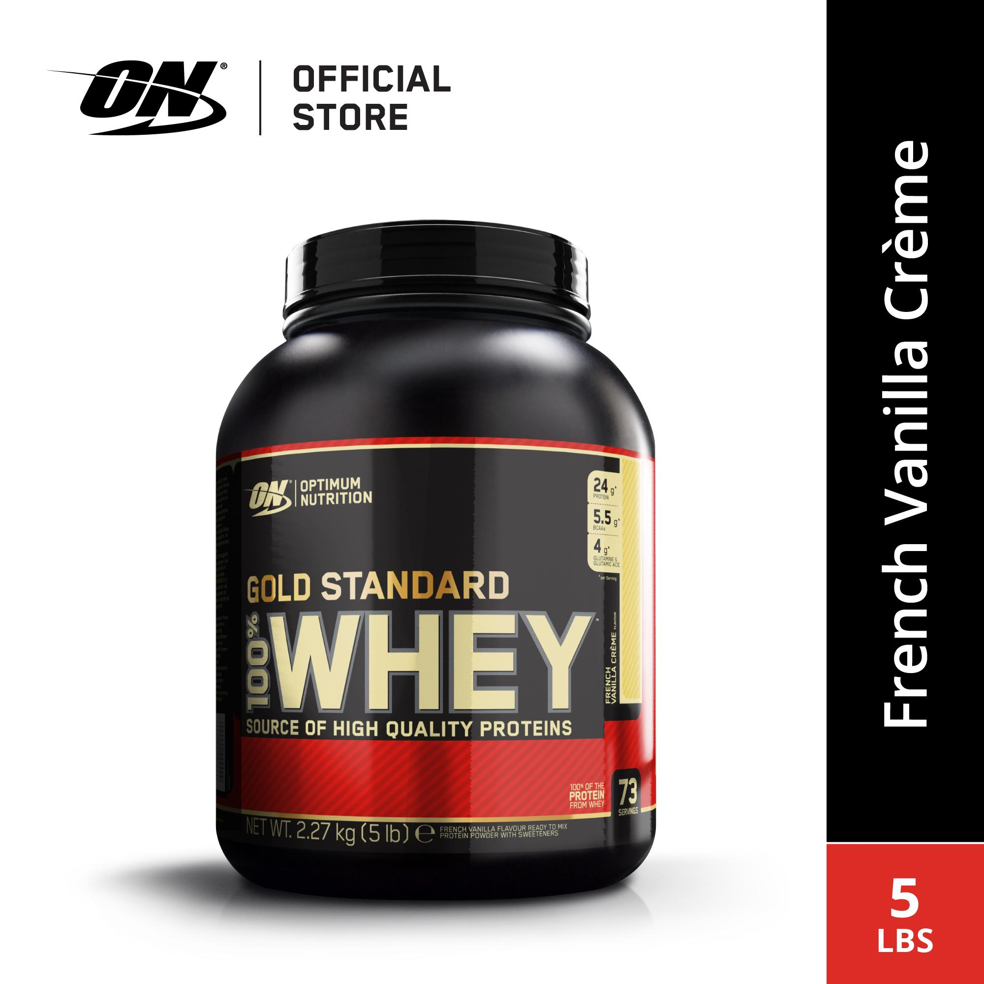 Optimum Nutrition Whey Gold Standard 5 Lbs - French Vanilla Cream By Sport N Body Fit.