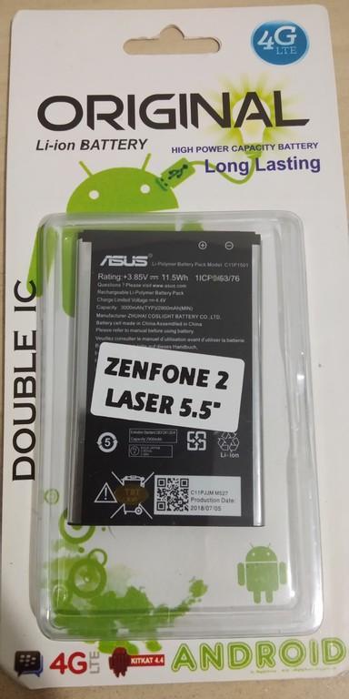 SBS - Original Baterai Batrai Batere Batrei Batery Battery Batre Battre ASUS Zenfone 2 Laser . Zenfone2 Laser 5.5Inch . 5.5 Inch . 6Inch . ZE601KL ZE550KL ZE551KL Z00UD Z00LD  . Zenfone Selfi Selfie ZD551KL . Z011DD . C11P1501 . Z00LD Z00LLD ZOOLD ZOOLLD
