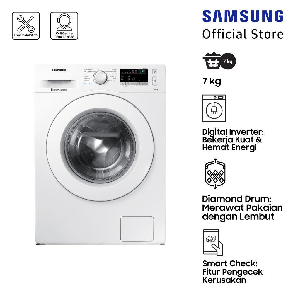 Samsung Mesin Cuci Front Loading dengan Diamond Drum, 7 Kg - WW70J42G0KW