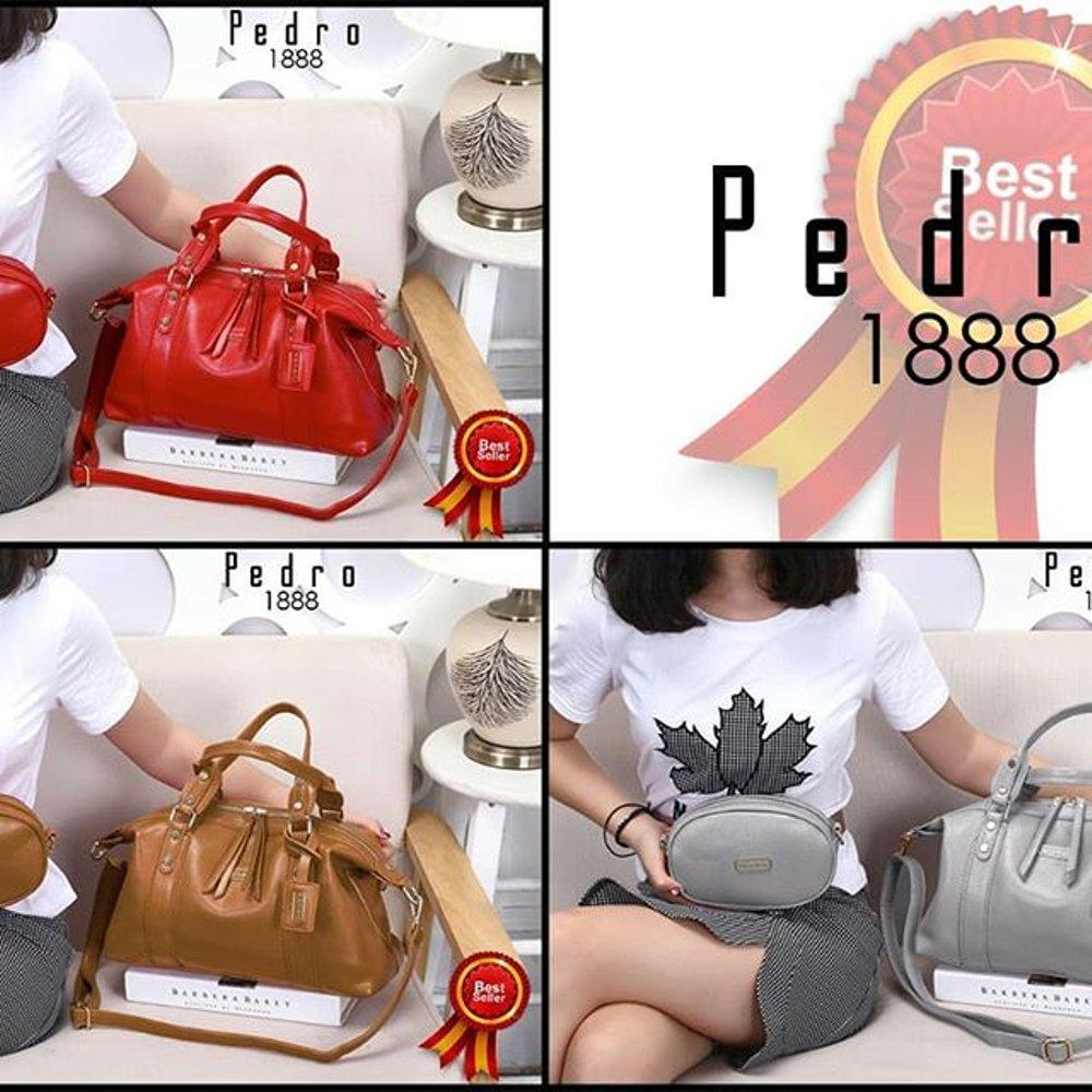 Tas Wanita Import PEDRO Bag Gallerry Femme Maddox Neo 2in1 Clemence Leather Hardware Gold 1888