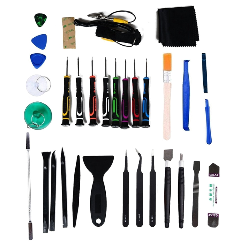 34 pcs Universal Screen Removal Professional Opening Repair Tool Kit Pry Tools Kit and Screwdriver Set for iPhone, Samsung iPad, Tablets and Laptop ect