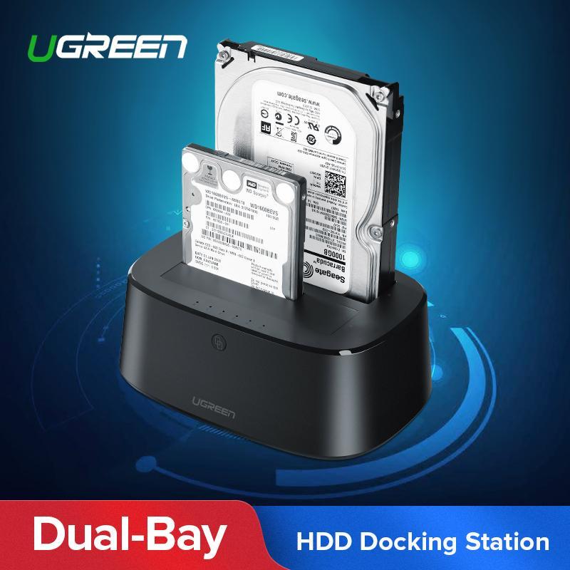"""USB 3.0 SATA Docking Station 2.5/"""" 3.5/"""" HDD SATA Hard Drive Dock Reader Enclosure"""