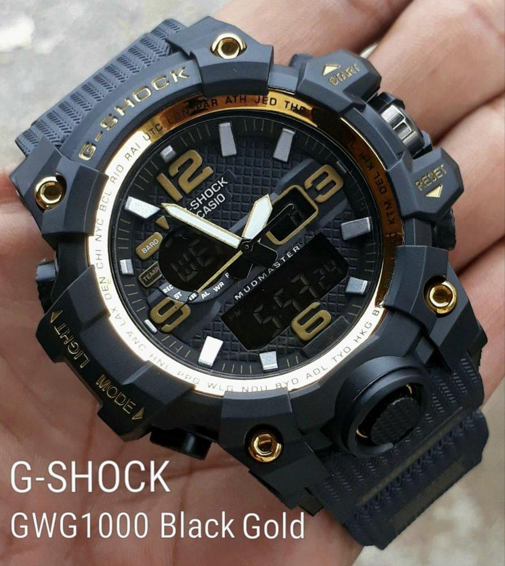 JAM TANGAN PRIA G SHOCK_GS GWG 1000 SUPER PREMIUM HITAM LIST GOLD TERBARU TERMURAH EXCLUSIVE LIMITED SPORTY COUPLE KASUAL TAHAN PERCIKAN AIR