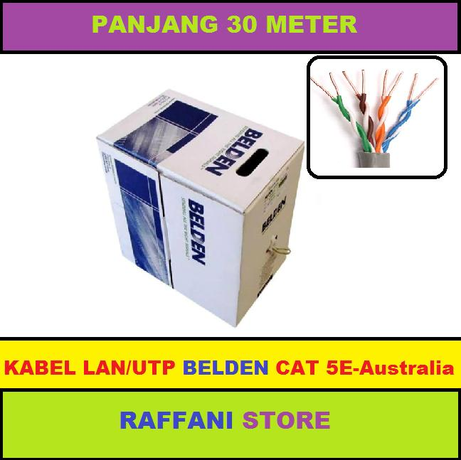 KABEL BELDEN LAN/UTP RJ45 Cat 5E - 30 Meter DIJAMIN CONNECT