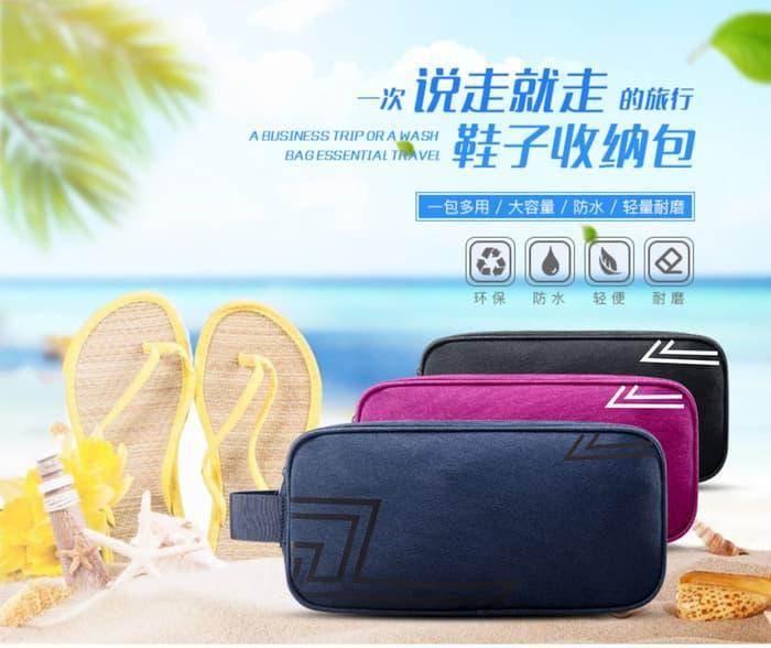 Korean shoes bag Tas Sandal Sepatu Travel Olahraga Sport P32