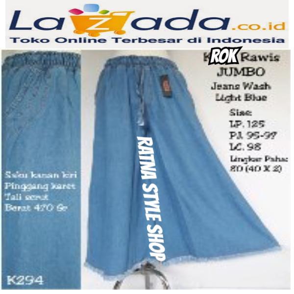 Rok Rawis Jumbo Jeans Wash -Light Blue