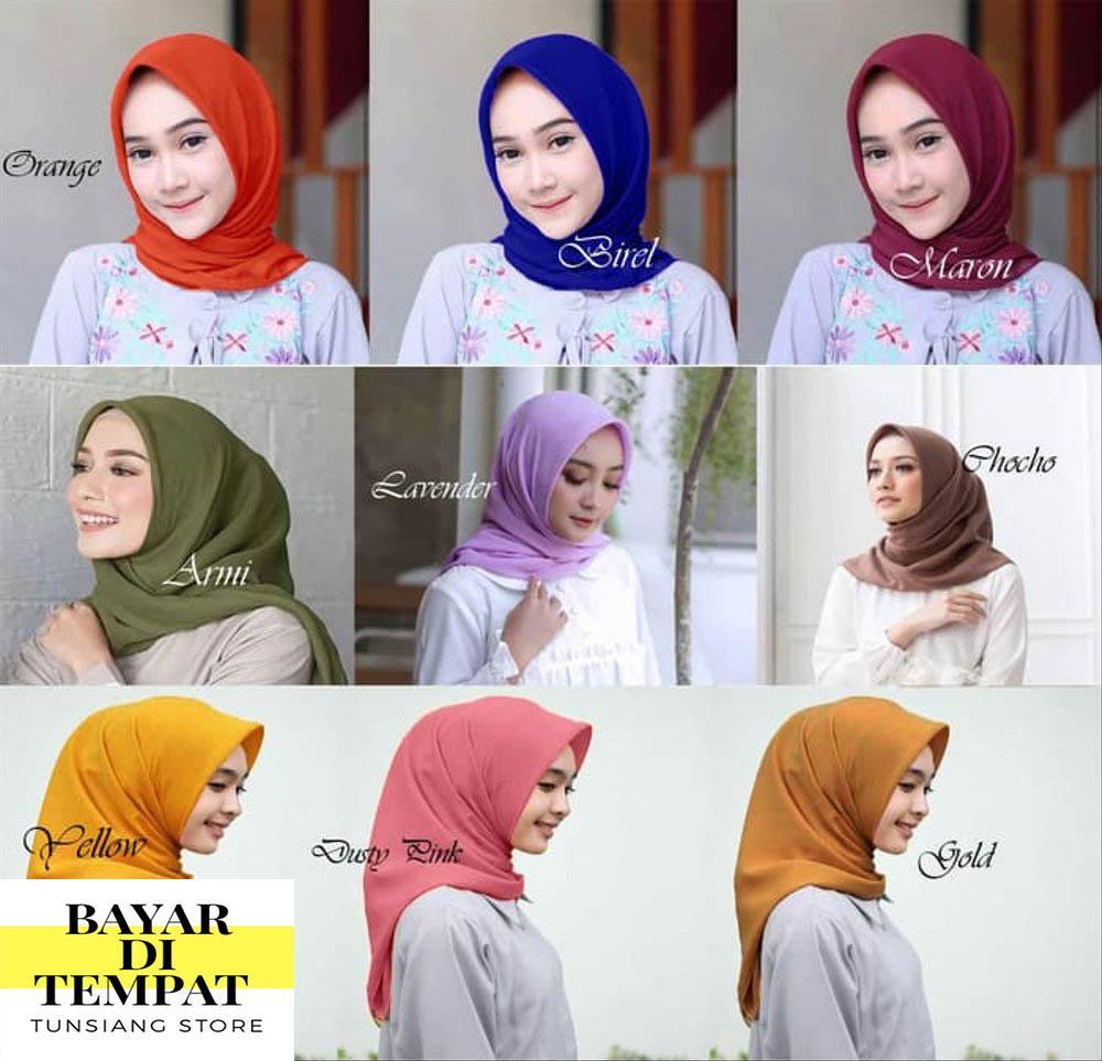 Hijab / jilbab segi empat bella squer 115 x 115 cm