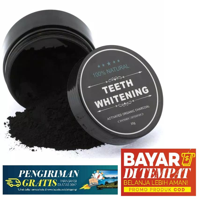 Yangma Pemutih Gigi Alami Teeth Whitening Charcoal Powder 30gr By Yangma.