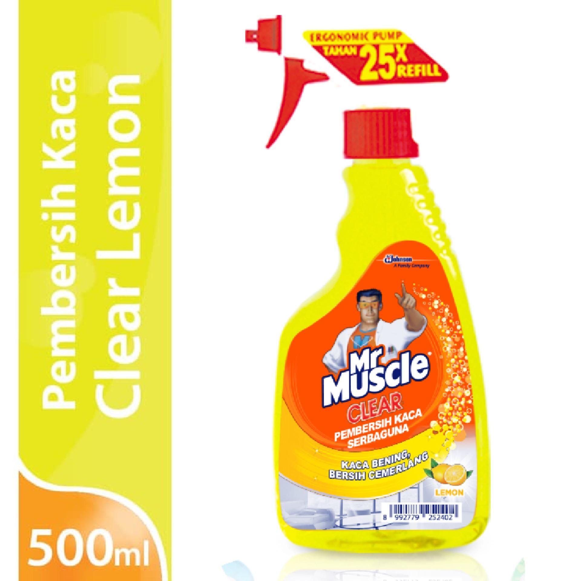 Mr. Muscle Glass Liquid Lemon Pump 500ml By Sc Johnson & Son Id.