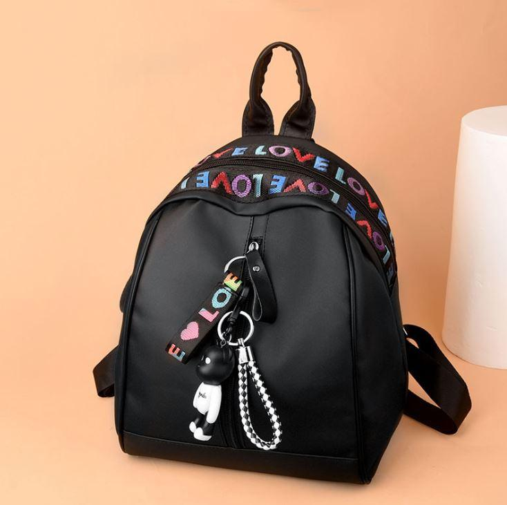 Tas Ransel Wanita Tas Punggung Backpack Fashion Batam Import Korean Style Love Edition Gratis Gantungan TR03