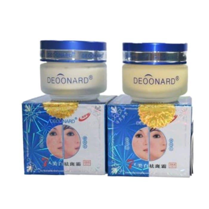 Paket Cream Deoonard Asli Original Obat Pemutih Kulit Wajah Pria Wanita Paket Siang Malam Penghilang Jerawat