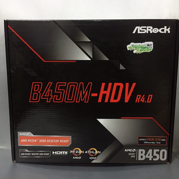 Motherboard ASRock B450M-HDV R4.0 AMD Socket AM4 Ryzen Athlon