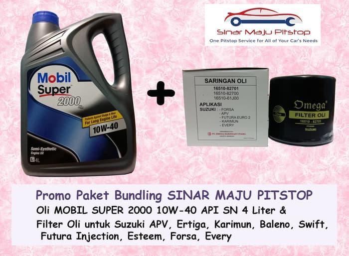 Paket MOBIL SUPER 10W-40 & Filter Oli SUZUKI APV ARENA & FORSA & EVERY