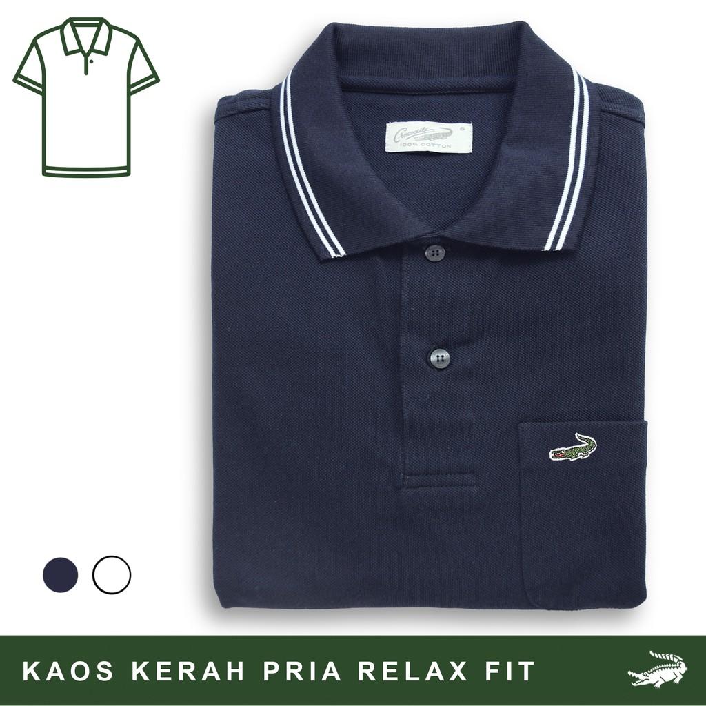 Croile DEFI B Baju Kaos Kerah Pria Men Polo Orinal Relax Fit Bahan Katun