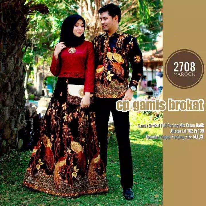 BEST SELLER!!! TERBARU!!! TERMURAH!!! DISKON 50% / Baju Batik Couple / Baju Muslim Wanita Terbaru 2020 / Batik Sarimbit / Kebaya Couple / Agustin Batik / Batik kondangan / Batik Murah / Batik Modern / Batik Muslim / Batik Sepasang / Batik Couple 2708
