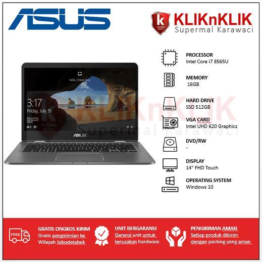 ASUS ZenBook Flip UX461FA-8565U-16GB-512GB-Win10 Grey