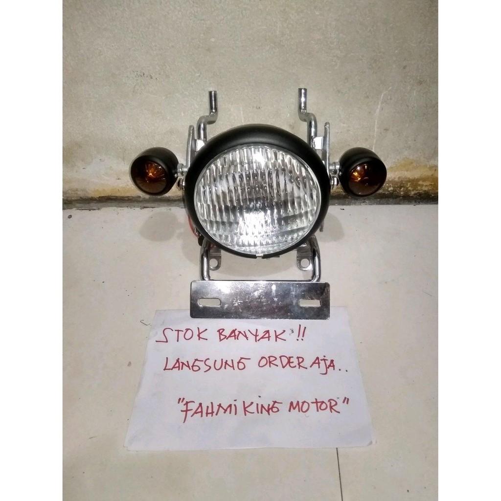 SEPAKET HEADLAMP LAMPU BULAT SESUAI POTO IKLAN FOR MEGA PRO GL PRO GL MAX GL 100 CB 100 HONDA W