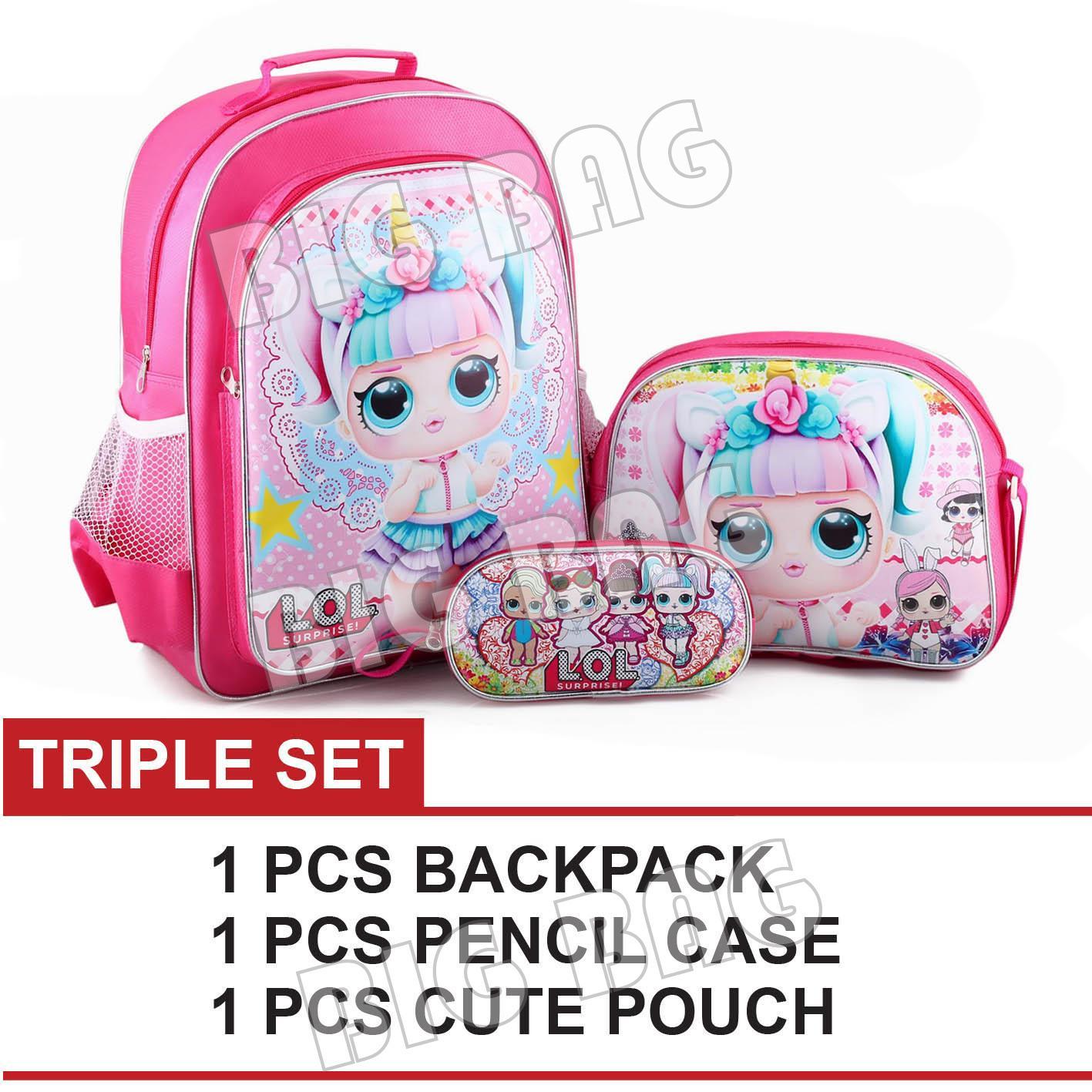 Tas Ransel Anak Perempuan Karakter - LOL SURPRISE - TRIPLE SET - School Bag  Tas Sekolah d67ae56c0b