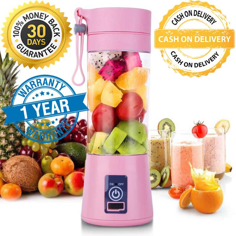 Juice Cup Blender Portable USB Rechargeable Shake n Take Promise Me My Bottle Electric Juicer + Powerbank