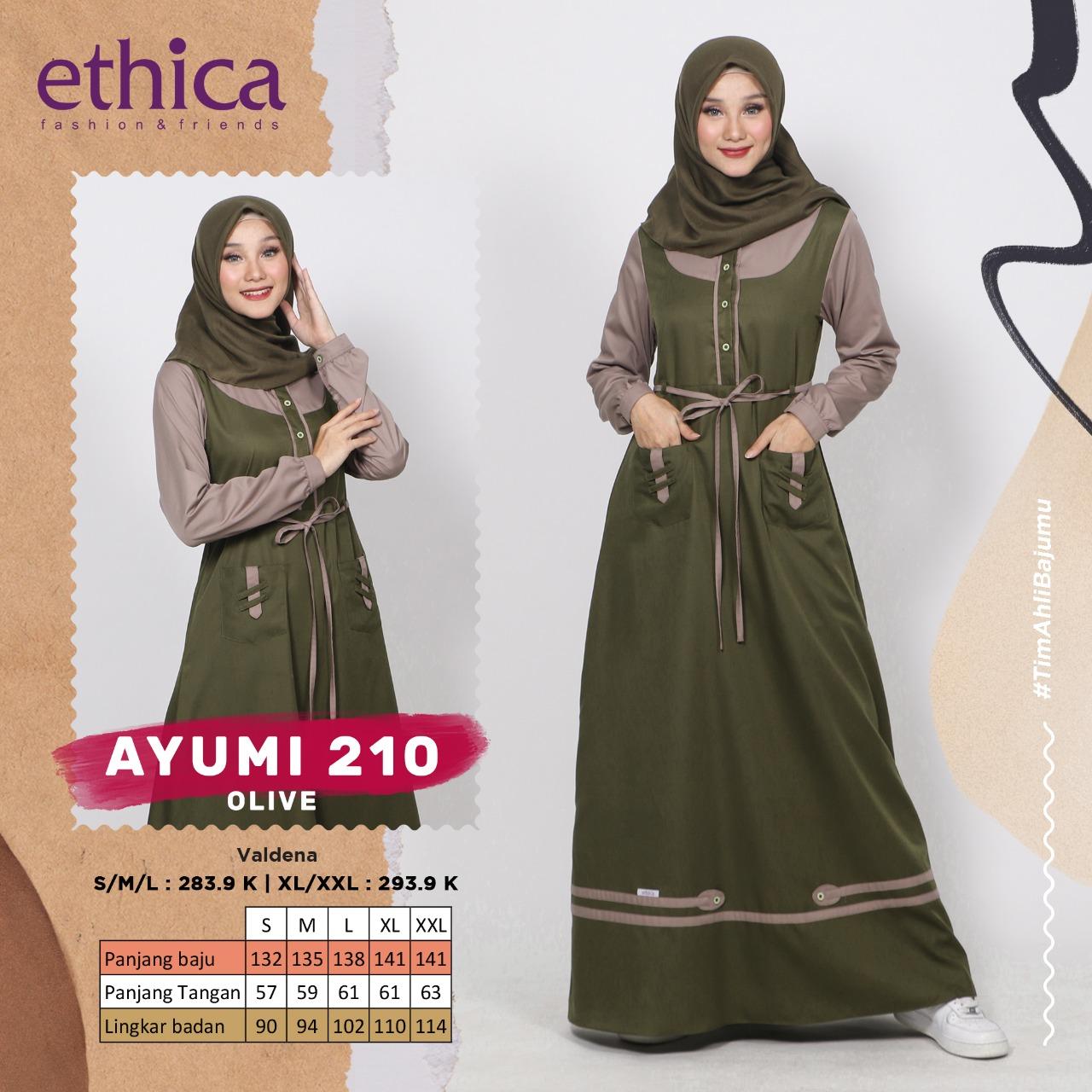 Gamis Ethica Ayumi 210 Olive Membeli Jualan Online Baju Muslim Jumpsuit Dengan Harga Murah Lazada Indonesia
