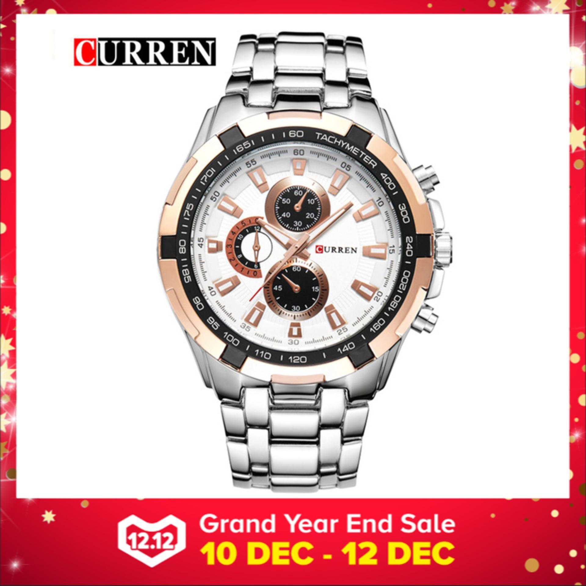 100% Asli  CURREN 8023 Mens Watches Top Brand Luxury Men Wrist Watches Full 4326fd5d35