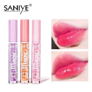 SANIYE Thay đổi màu môi, Son bóng dầu trong suốt, Son dưỡng ẩm không thấm nước L1158 thumbnail