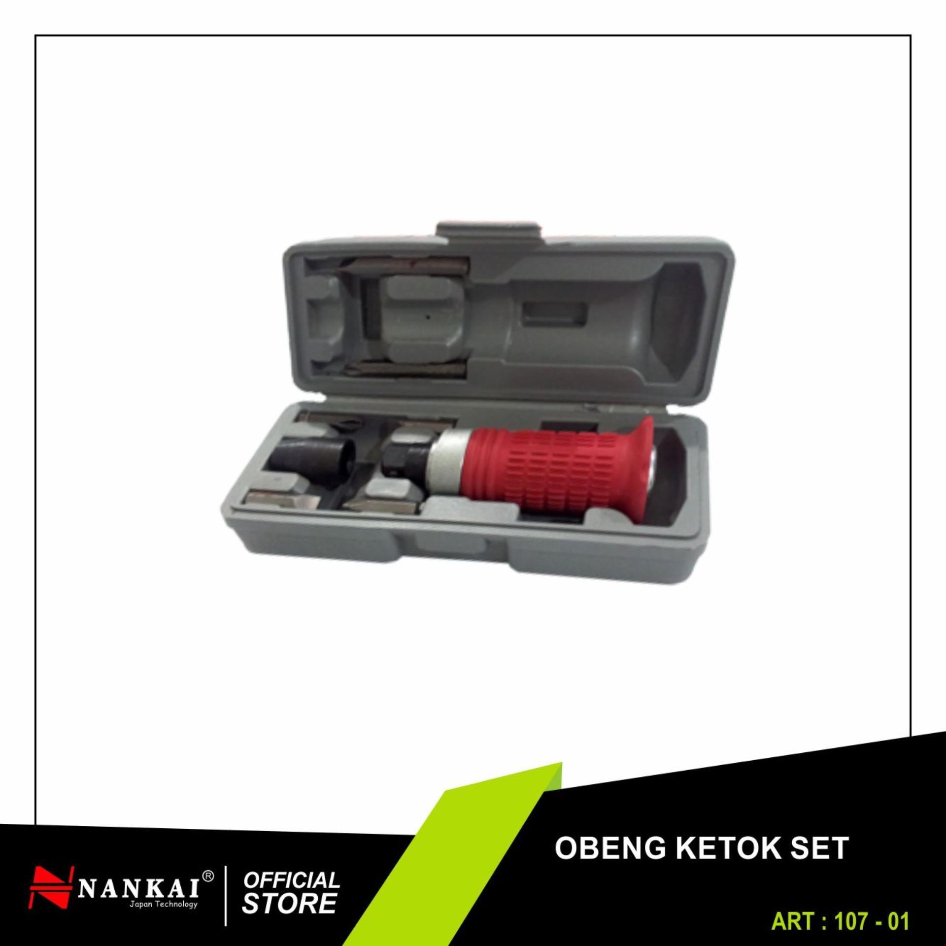 Nankai Obeng Ketok Getok Handle Karet Set - Impact Driver Perkakas Tool