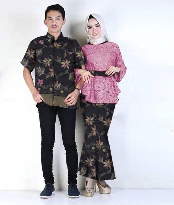 Muslim Hijab Store Baju Couple Pesta Azka Brukat+Furing LFS Setelan 3in1  Atasan+Rok 563899a05f