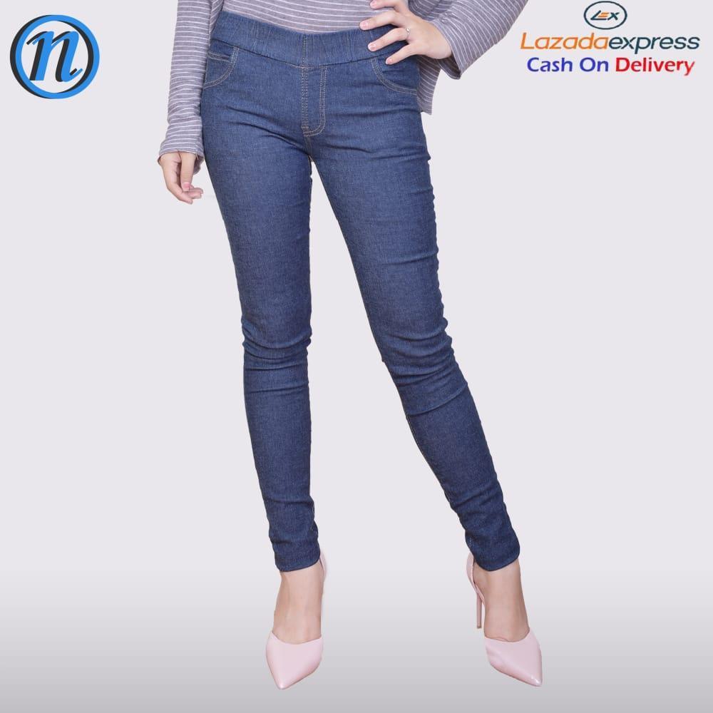 Celana Wanita Legging Jeans Bahan Denim Soft Jeans Bagus Murah Tidak Pudar  Model Skinny c0d95e59e9
