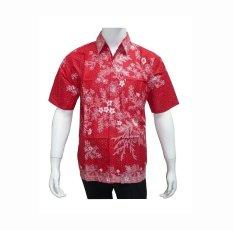 Jual Batik Solo Bo12005 Kemeja Batik Pria Merah Batik Solo Ori