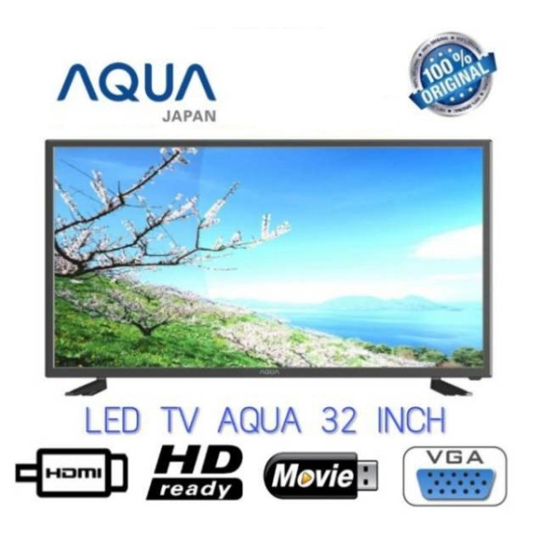 LED TV AQUA [32 Inch] LE32AQT5000 USB MOVIE & HDMI - Bergaransi Resmi