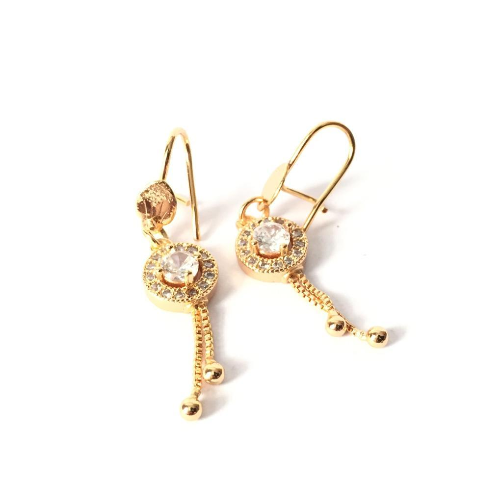 Xuping Anting Fashion Wanita Model Bulat Permata Satu - Xuping Gold 08 By Tradeold Store.