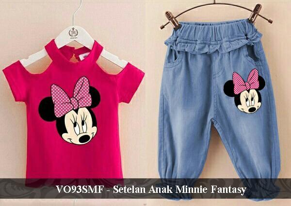 vLovi Setelan Baju Anak 3 tahun cantik Simple Kaos Bahu Bolong Balita Lucu Perempuan Berkualitas VO93SMF