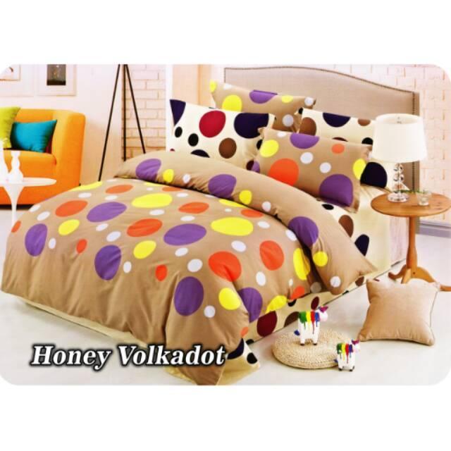 Bed Cover Set Fata Minimalise Honey Volkadot Ukuran 120x200 Single Bedcover set Bedcover polor sprei dan bedcover sprei terlaris sprei terbaru bedcover terbaru sprei kintakun bonita