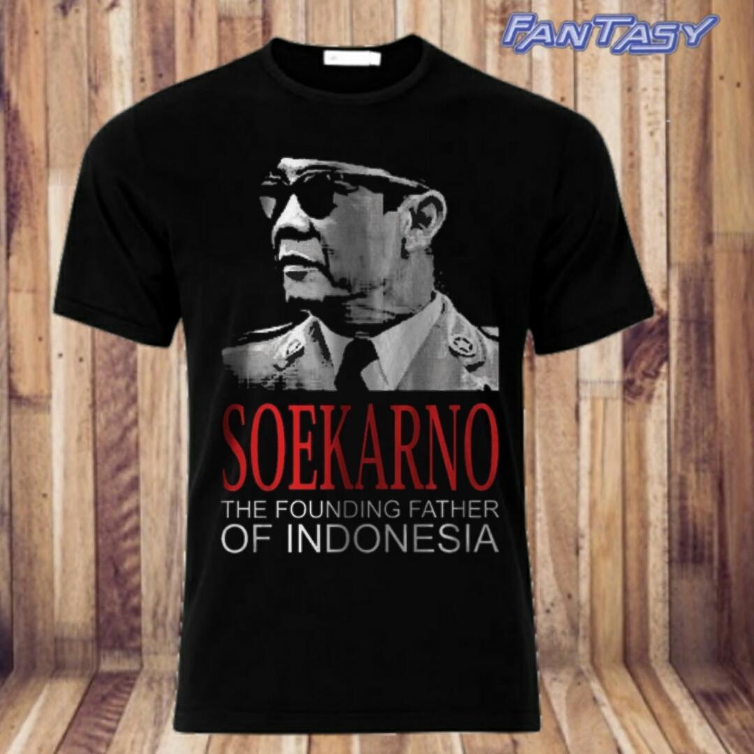 smile/T-shirt pria/T-shirt wanita/kaos distro/kaos sokarno(the founding father of indonesia) terbar