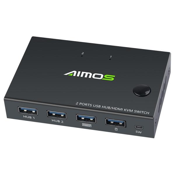 Bảng giá 4K USB HDMI KVM Switch Box Video Display USB Switch Splitter for 2 PC Sharing Keyboard Mouse Printer Plug and Paly Phong Vũ
