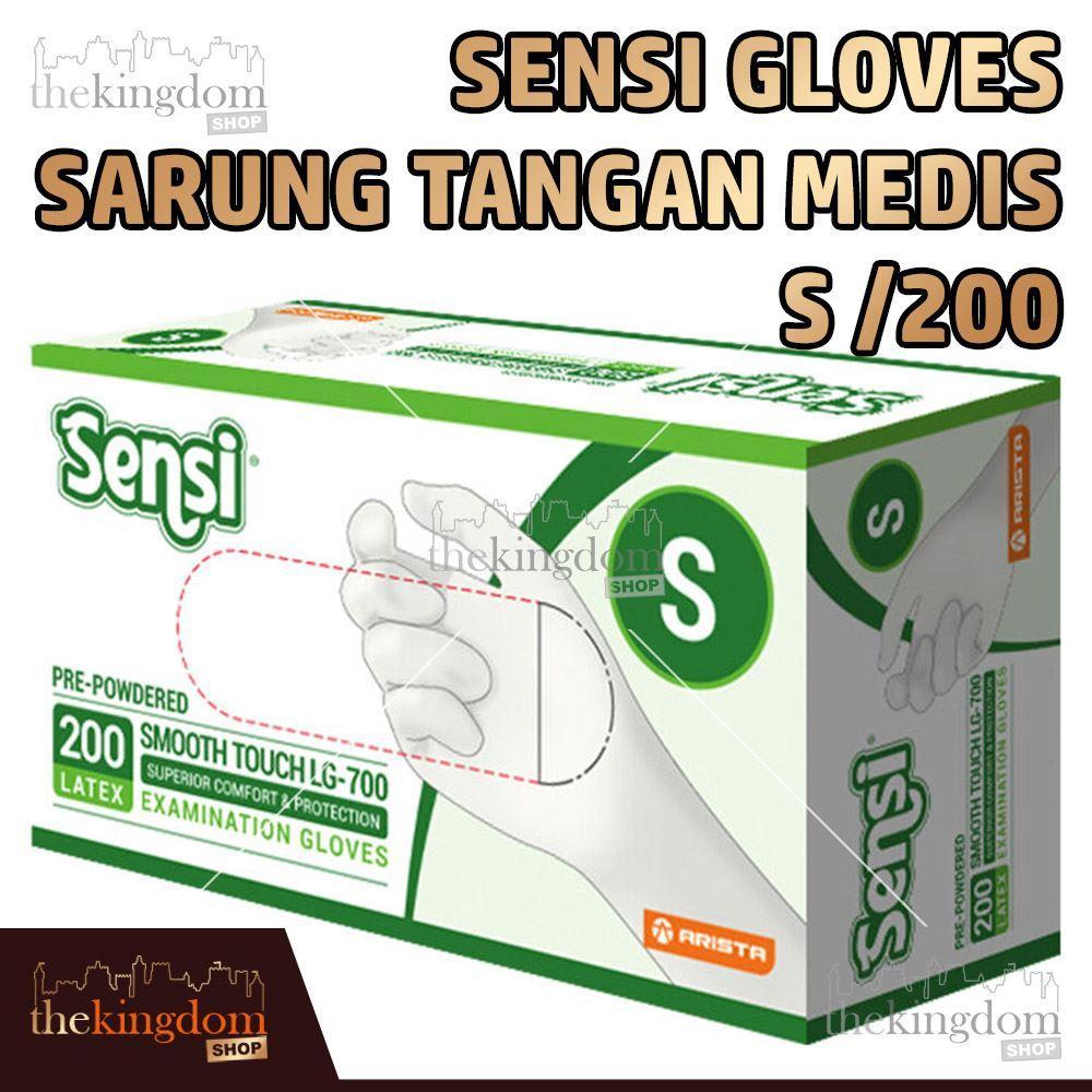 Sensi Gloves Sarung Tangan Medis Karet Latex Glove Disposable S /200
