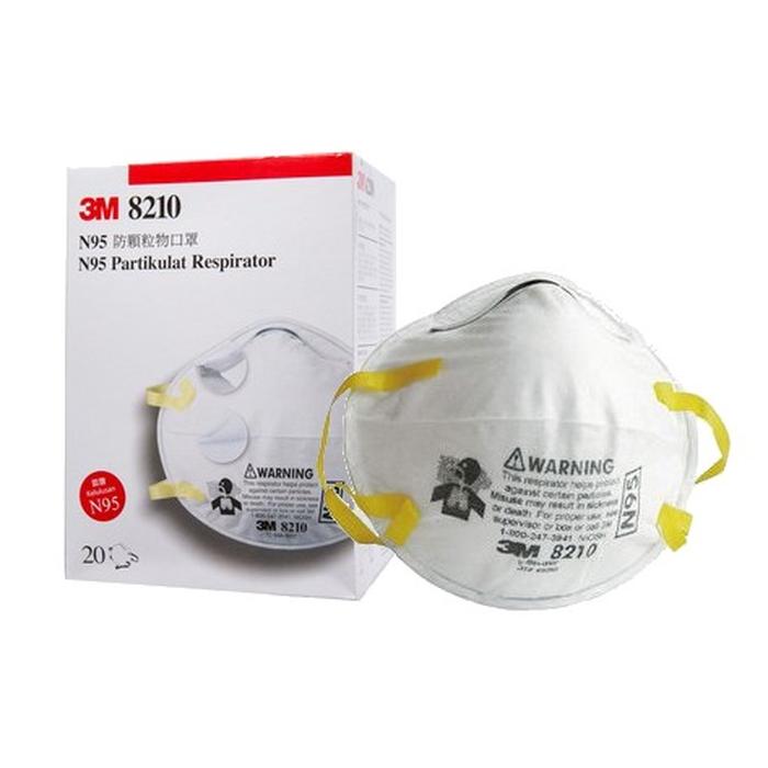 Respirator Per Masker N95 Pcs 8210 3m Virus Particulate Anti