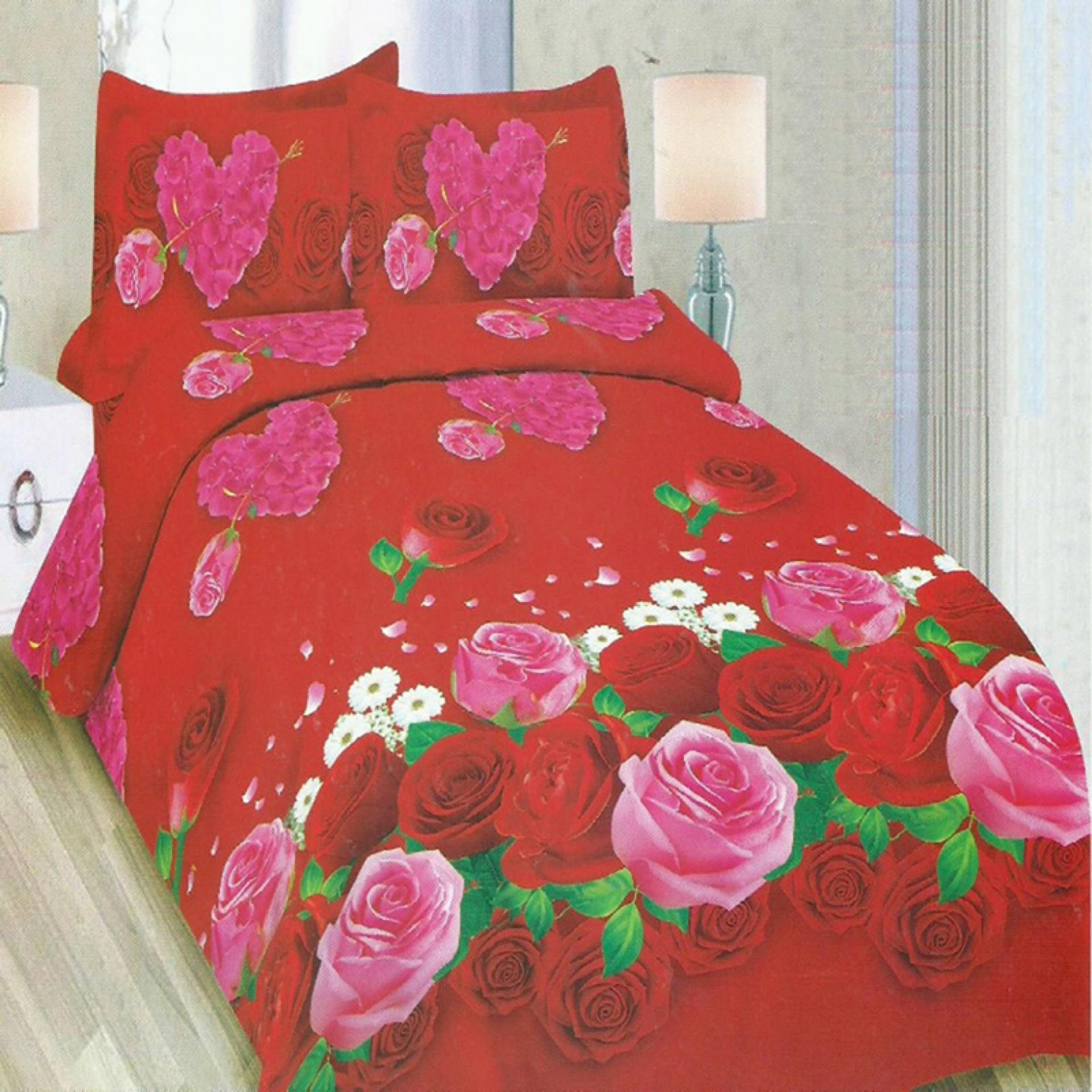 Bonita Sprei King Bantal 4 Motif Lovely Rose - 180x200 cm