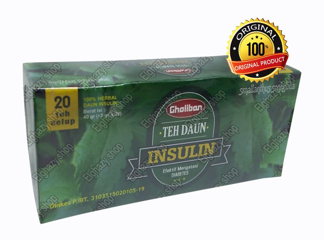 Teh Celup Gholiban Daun Insulin - Mengatasi malaria dan radang tenggorokan