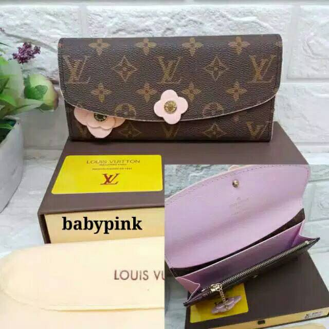 dompet import wanita / dompet panjang / dompet lv panjang free box uk 20 x 9