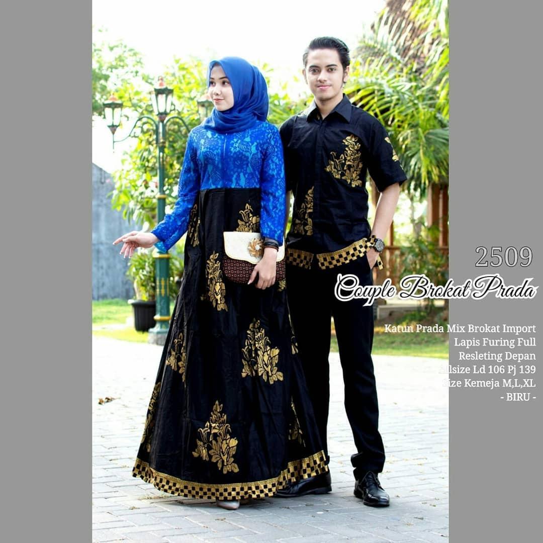 TERMURAH - Batik Couple / Couple Batik Sarimbit / Baju Muslim Wanita Terbaru 2019 / Couple Batik / Batik Sarimbit / Baju Batik Modern / Batik Kondangan / Batik Keluarga / Batik Pekalongan - Batik Couple Broklat Prada 2509 NEW