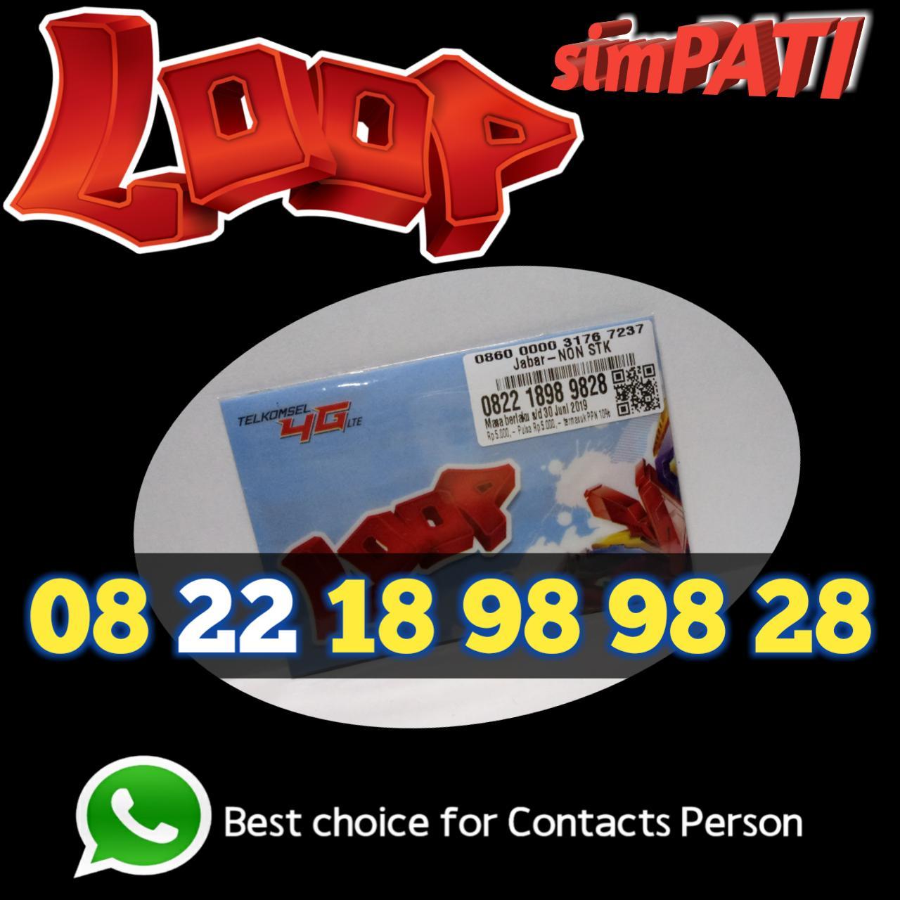 nomor cantik 18 98 98 28 simpati loop Telkomsel