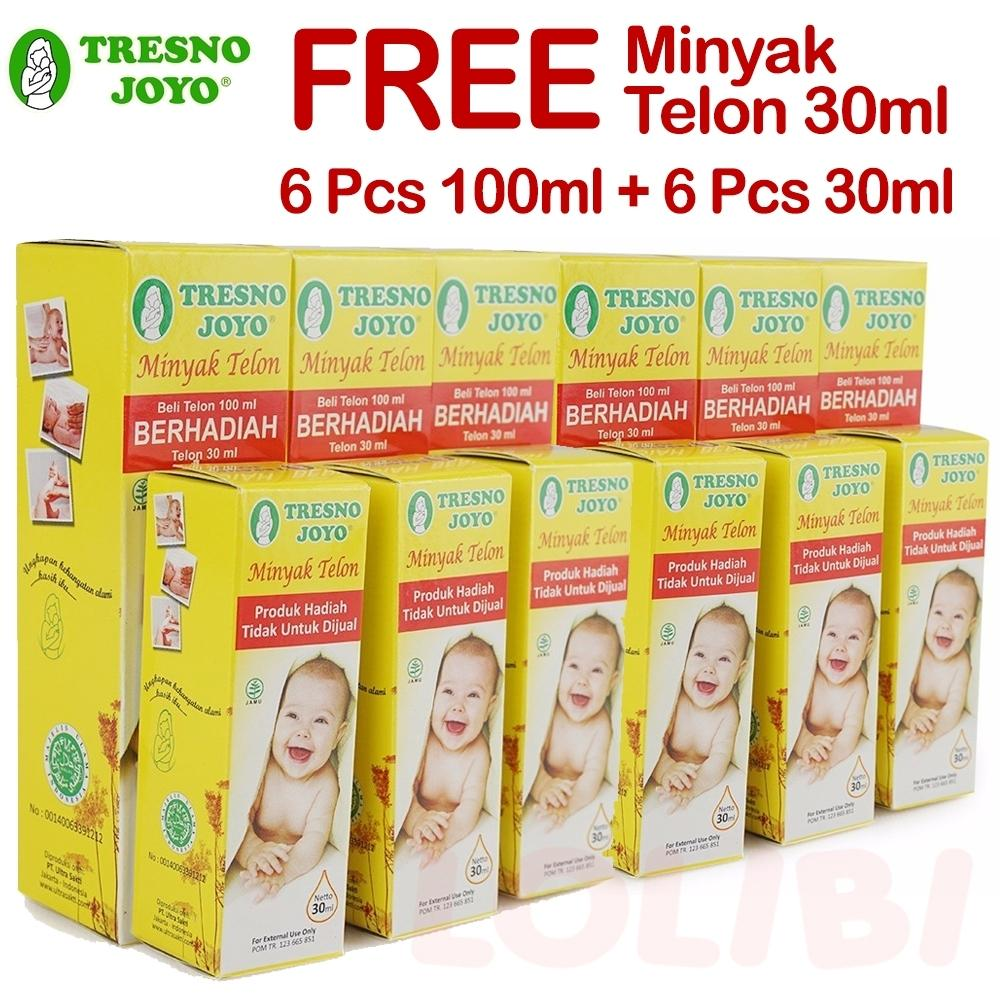 Tresno Joyo Minyak Telon 100ml + Free Minyak Telon 30ml - 6 Pcs By Lolibi.