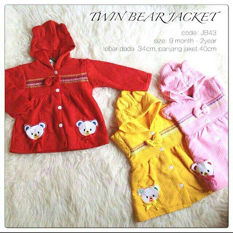 jaket bayi jaket anak TWIN BEAR babeebabyshop sweater anak sweater bayi  grosir baju anak grosir baju bdcf244aed