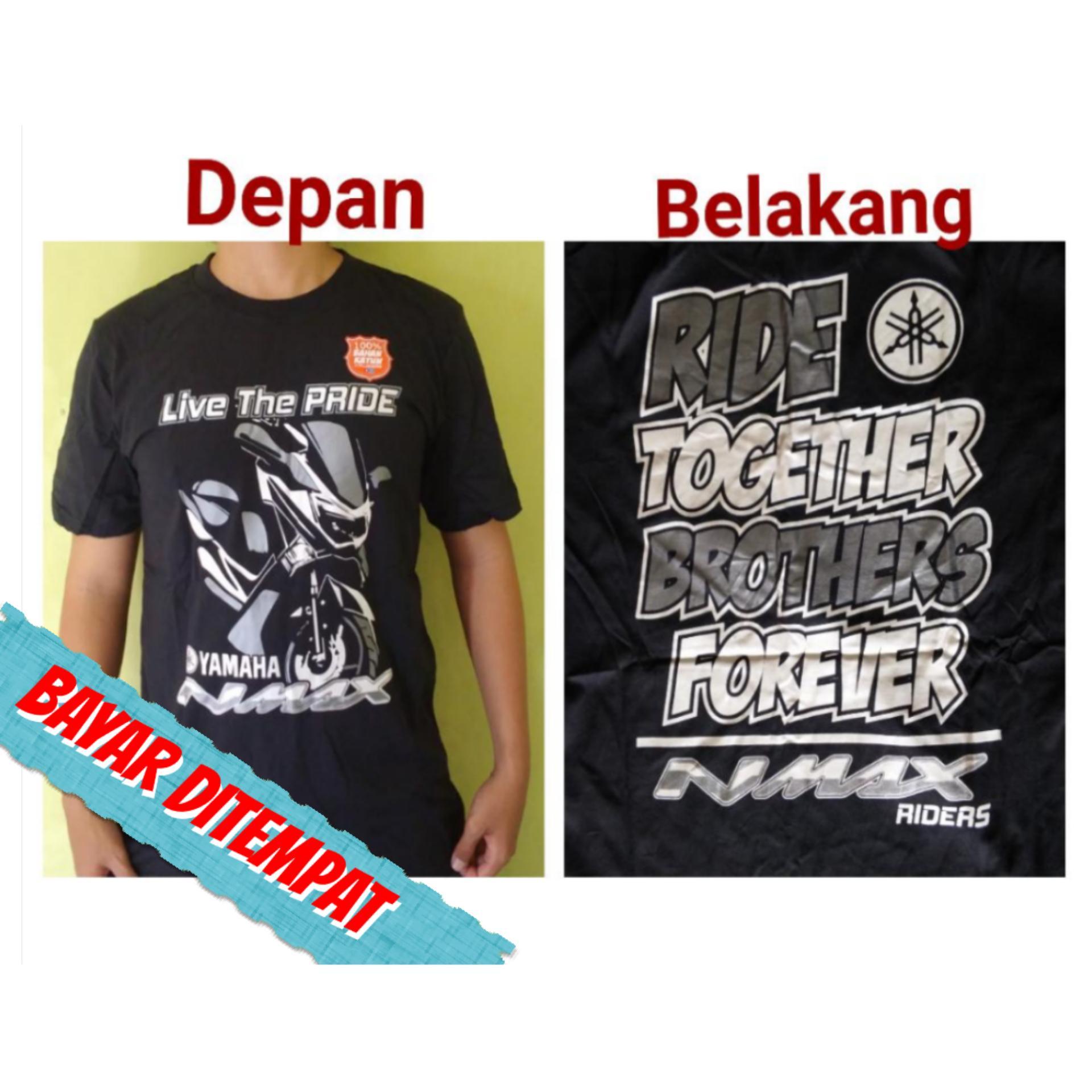 Fardhanshop - T-shirt / kaos / baju club / geng motor N-Max - Ride together brothers Forever