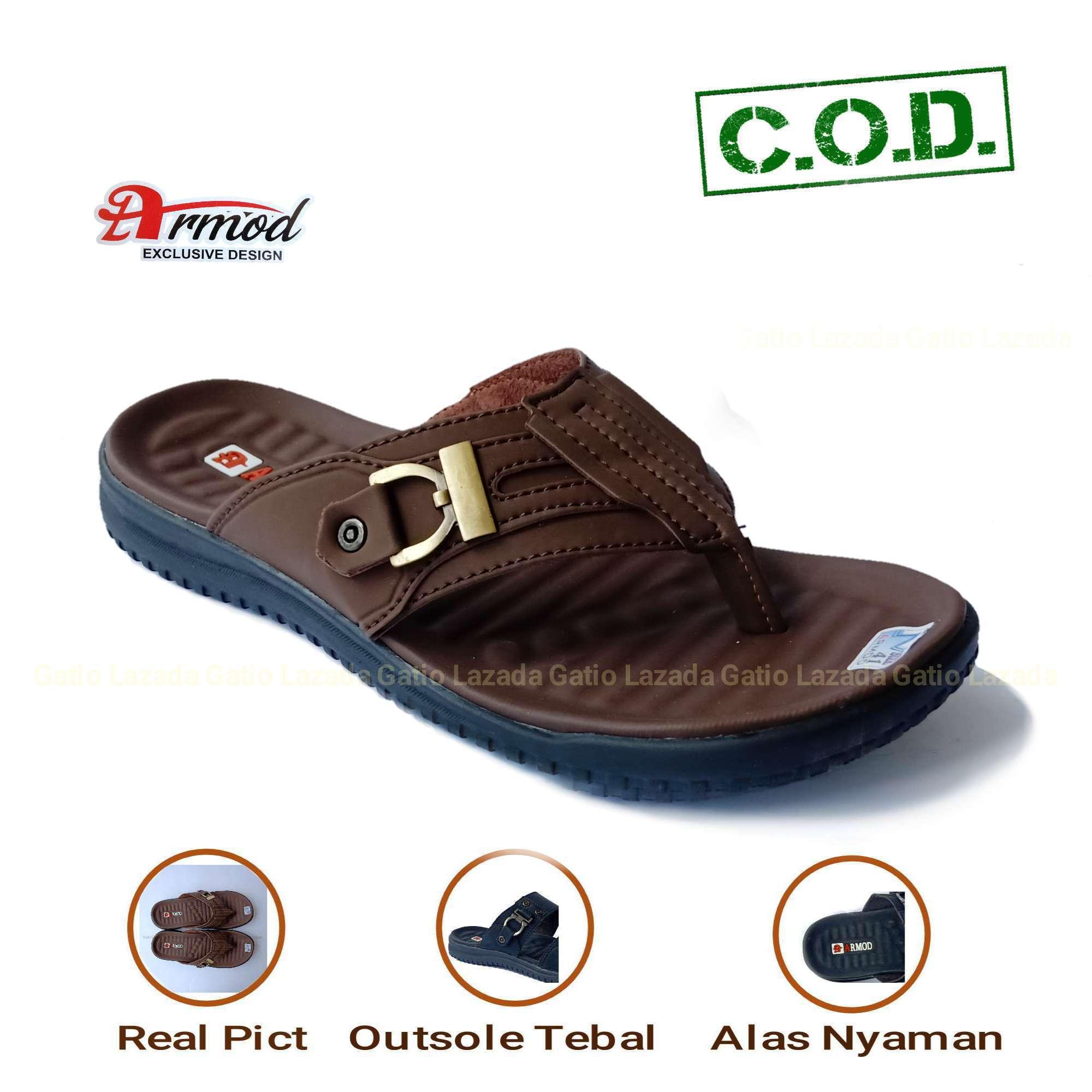 Sandal Kulit / Sandal Pria / Sandal Pria Kulit Casual  Sandal Kulit Pria / Sandal Pria Kulit Murah / Sandal Remaja Sandal Anak Armod AR01