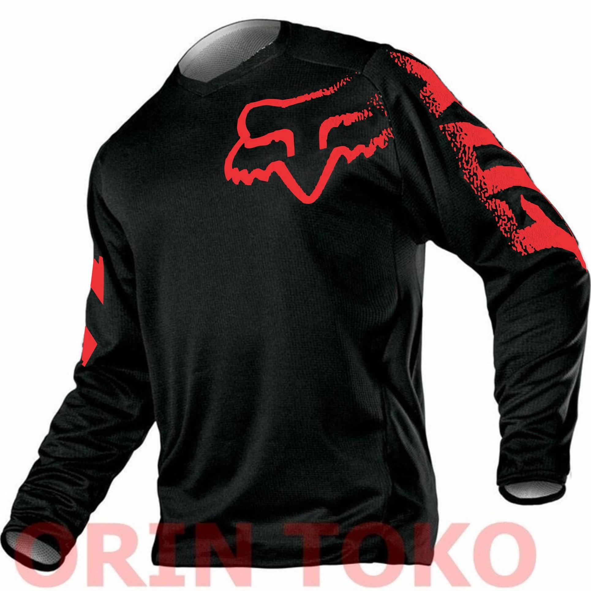 Jersey Sepeda Fox Blackout Red