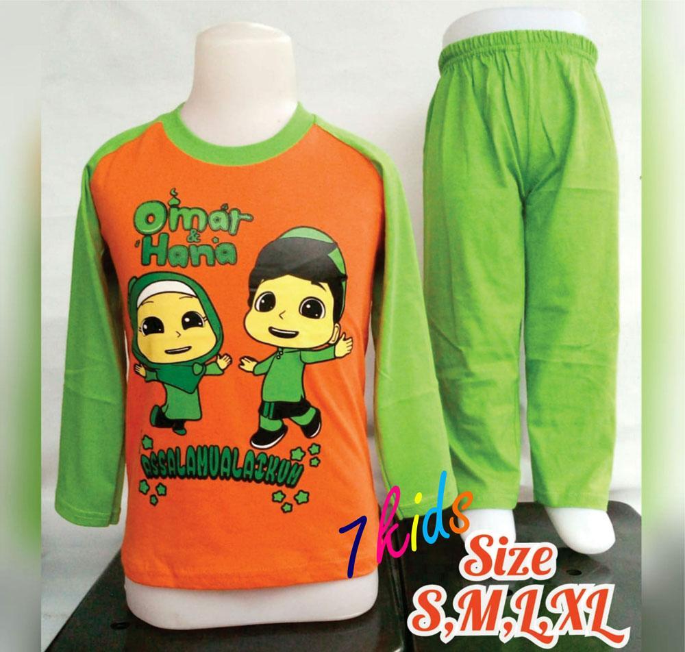 Jual Baju Atasan Anak Laki Kaos Singlet Pria Superhero 7kids Terlaris Setelan Muslim Oren Hijau Omar Hana Perempuan