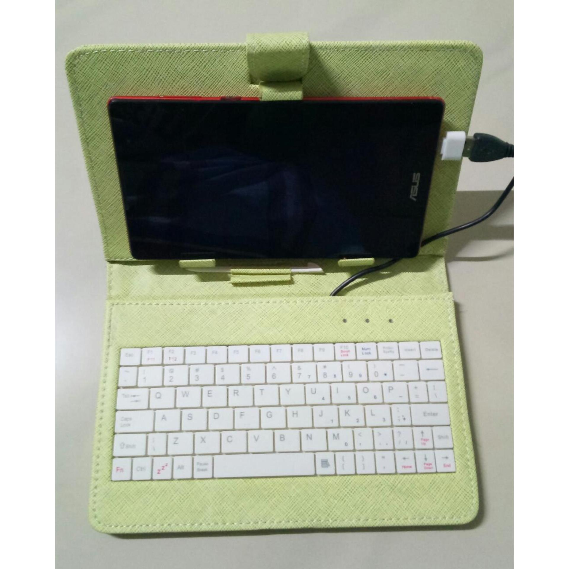 Keyboard Tablet / HP Android / Windows Colokan Micro USB Keyboard Flip Cover Tablet 6